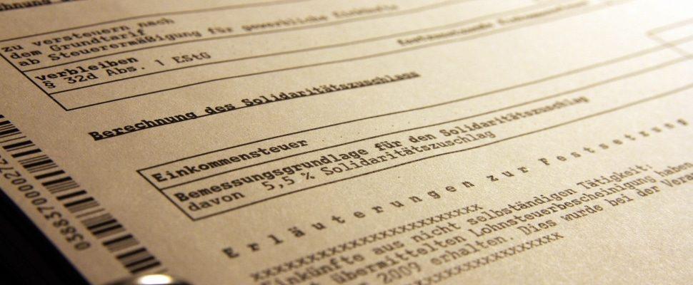 Steuerbescheid, über dts