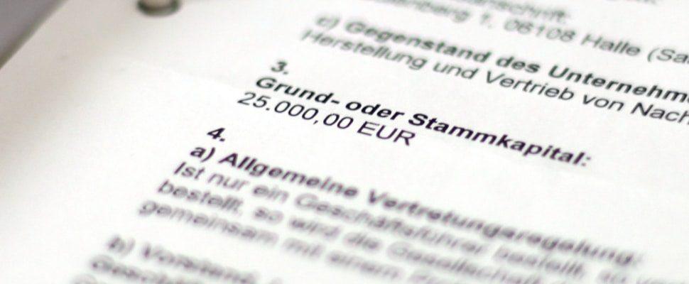 Registro comercial de una GmbH, a través de dts